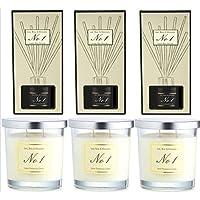 Aldi No 1 - Juego de 3 difusores de Aroma de albahaca y Mandarina, Aroma