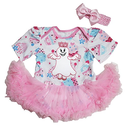 n Baby Dress Ghost Princess Cupcake Bodysuit Romper Nb-18m (6-12 Monate) (Baby Mädchen Cupcake Halloween Kostüme)