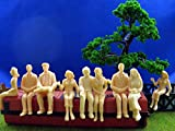Evemodel 18pcs all Seated 1:25 UnPainted White Figures LGB
