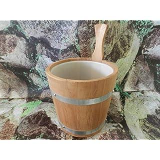 Achleitner Sauna Aufgusskübel Espenthermoholz 5Liter mit Kunststoffeinsatz