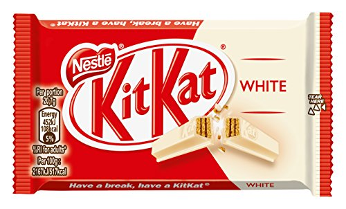 Kit Kat WHITE (four finger) - Box of 24 bars