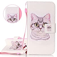 Galaxy J3 Case, Samsung Galaxy J3 Flip Cover, ISAKEN PU Leather Cover for Samsung Galaxy J3 - Fashion Drawing Pattern Design Bookstyle Cell Phone Case Luxury Pu Leather Wallet Magnetic Strap Design Mobile Cover Protect Skin Stand Case Pouch with Card Hold