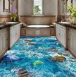 Yosot Benutzerdefinierte Bodenbelag 3D Foto Dekorative Gemälde Schwimmende Berg Wasser Dolphins 3D Outdoor Bodenbelag Tapete-450cmx300cm