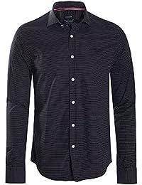Armani Jeans - Chemise noire homme custom fit imprimé pois