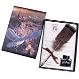 Antique Dip Pen Set Writing Quill Feather Pen Ink Set -Retro Feather Pen Calligraphy Pen Set Writing Quill Ink Dip Pen for Harry Potter Fans,Included Ink(Owl Feather Pen)