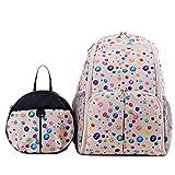Babyhugs 3Ultra Light Wickeln Windel Rucksack Rucksack Tasche mit Kleinkind Sicherheitsgeschirr Rucksack–Creme Luftballons