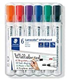 Staedtler 351 Lumocolour Whiteboard Marker with Bullet Tip - Assorted Colours, Pack of