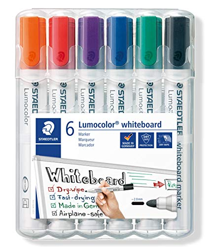 c99c2dbc9 STAEDTLER 351WP6 Lumocolour Whiteboard Marker with Bullet Tip