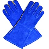 GLJY Tierhandgriff-Handschuhe Für Hundekatze-Vogel-Schlangen-Papageien-Eidechse-Wilde Tiere Anti-Biss- / Kratzer Schutz-Handschuhe,Blue