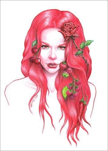 Posterlounge Alu Dibond 90 x 130 cm: Rotwein von EDrawings38