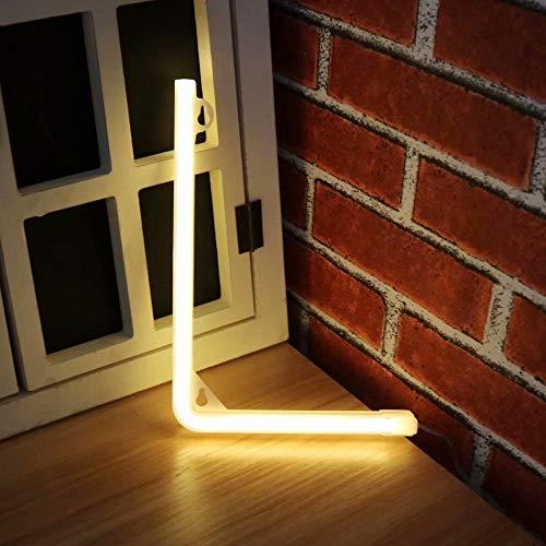 Jpettie - Cartel de neón con Luces LED para decoración de Bodas, diseño de Letras del Alfabeto