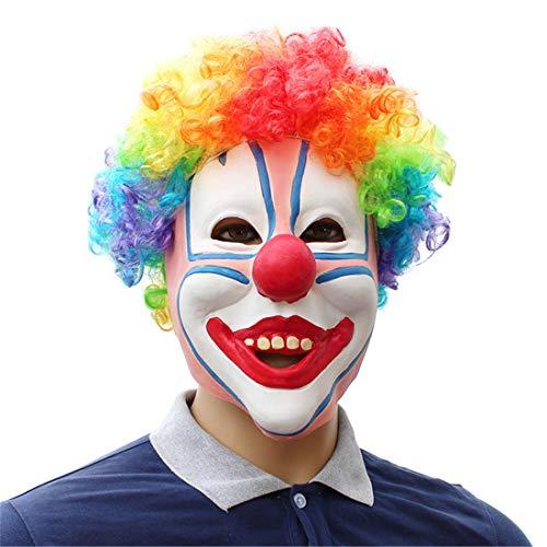 (Party Liefert Farbige Clown-Kopfgetriebe Maske Halloween Dekoration Kostüm Maske Cosplay Volle Kopfmaske Látex)