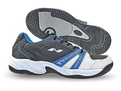Nivia Energy Tennis Shoes, Men's 4 UK (White/Black/Blue)  available at amazon for Rs.1412