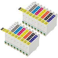 16 Multipack Alta Capacità Epson T0540 , T0541 , T0542 , T0543 , T0544 , T0547 , T0548 , T0549 Cartucce Compatibles 2 Gloss-Optimizer, 2 nero fotografico, 2 ciano, 2 magenta, 2 giallo, 2 rosso, 2 nero matte, 2 blu compatibile con Epson Stylus Photo R1800, Stylus Photo R800. Cartucce Compatible. T0540 , T0541 , T0542 , T0543 , T0544 , T0547 , T0548 , T0549 © Cartuccia Land