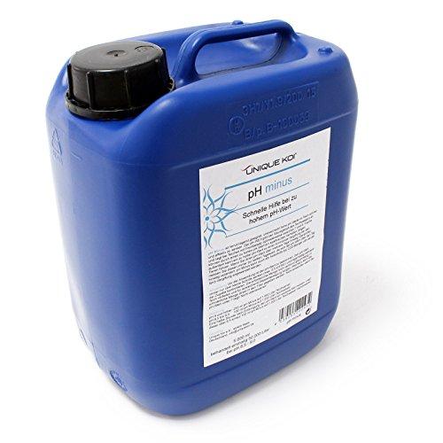 WilTec Unique Koi pH Minus 5000 ML pour 50000 l dŽEau du Bassin