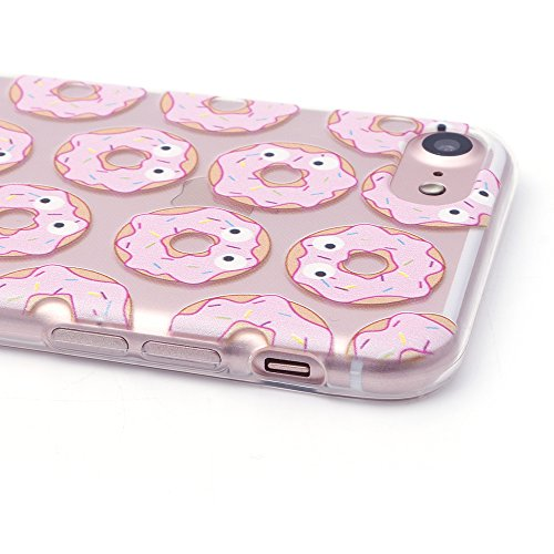 iProtect TPU Schutzhülle Apple iPhone 7, iPhone 8 Softcase Hülle Affen Emojis transparent Donuts mit Augen
