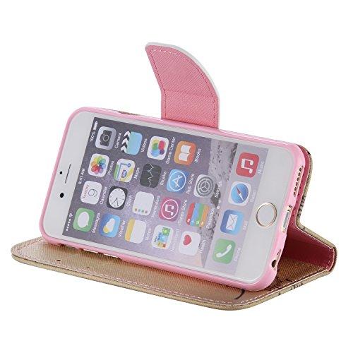 PU für Apple iPhone 6 (4.7 Zoll) Hülle,Farbe geprägt Geprägte Handyhülle / Tasche / Cover / Case für das Apple iPhone 6 (4.7 Zoll) PU Leder Flip Cover Leder Hülle Kunstleder Folio Schutzhülle Wallet T 11