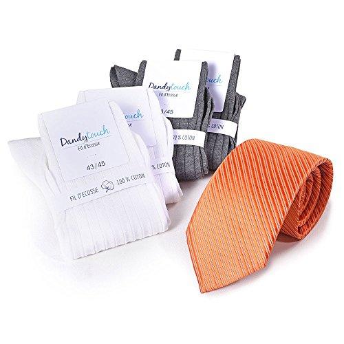 Coffret cadeau ASSELO - 18 assortiments blanc gris orange