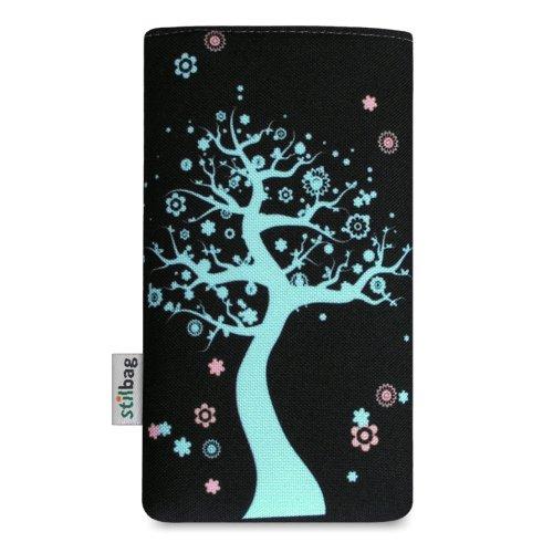 Stilbag Tasche 'MIKA' für Apple iPhone 5 - Design: Abstract Green Fairy Tree