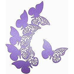 50 mariposas marcasitios de boda en púpura - más colores a elegir