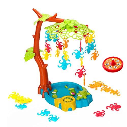 Sharplace Kinder Kunststoff auf Den Baum Hängen Balancespiel Spielset, Pädagogisches Spielzeug für Kinder (Kunststoff Körper Locken)