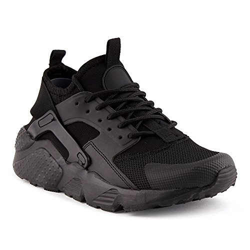 Fivesix Uomo Sneaker Scarpe Sportive Scarpe Da Corsa Scarpe Casual Scarpe Tessili Scarpe Stringate Camouflage Scarpe Basse Nero-2