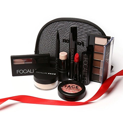 Makeup set including Lipstick, eyeliner,Mascara, Eyeshadow, Eyebrow Powder, Blush, Highlighter Cosmetics ... ()
