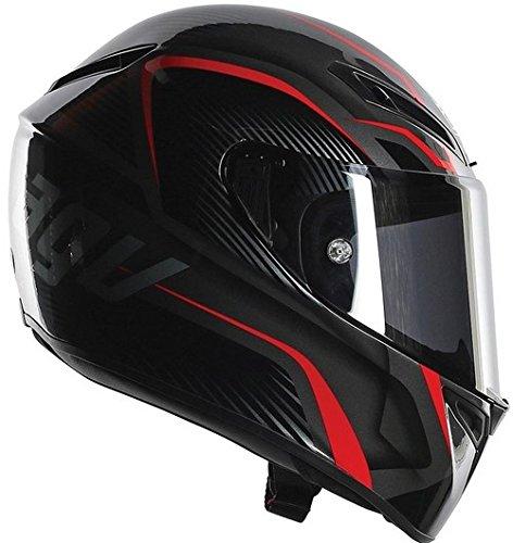 AGV Helmets-Casco 6211a2fy_007 Integrali GT E2205 Veloce Multiuso, Multicolore (Txt Gunmetal/Argento), MS