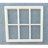 Melody Jane Maison De Poupées Plastique Blanc Géorgien Cadre De Fenêtre 6 Panneau Miniature DO IT YOURSELF Constructeurs