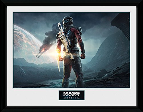Preisvergleich Produktbild 1art1 103446 Mass Effect - Andromeda, Landscape Gerahmtes Poster Für Fans Und Sammler 40 x 30 cm