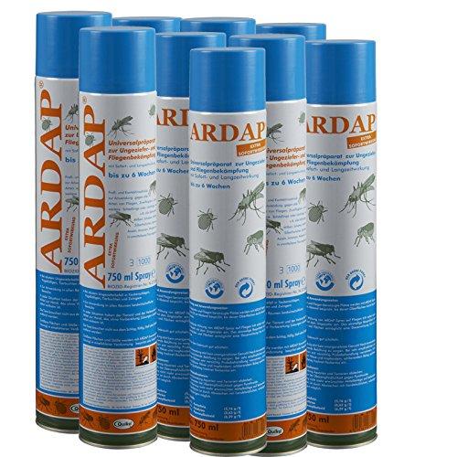 9 x 750 ml Ardap Ungezieferspray Quiko Das Original mit Langzeitwirkung