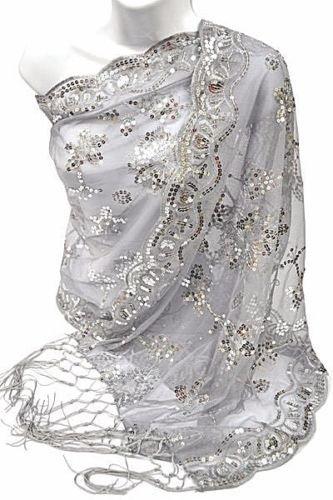 Silber Pailletten Perlen Blume Hochzeit Party Geschenk Abend Schultertuch/Hochzeit/New Year Eve/Formale Veranstaltung/