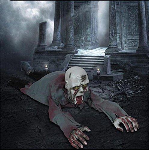 Halloween Gruseliger Zombie Beleuchtungssteuerung Schädel Augenlicht Auto Ghost Yell und Creep Erwachsene Anteil 110cm (Sale Herren Kostüm Strumpfhosen)