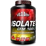 Vit-O-Best Isolate CFM 100% Proteínas, Sabor a Fresa - 1814 gr