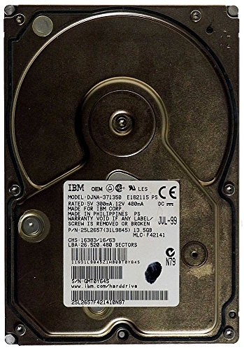 13,5GB AT Festplatte IBM DJNA-371350 IDE ID10059 - Ibm-ide-festplatte