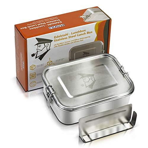 tahl Brotdose & auslaufsichere Lunchbox mit herausnehmbarer Trennwand, 1200 ml | umweltfreundliche Bento Box für Kinder & Erwachsene | BPA freie & solide Brotbox mit Unterteilung ()