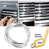 Speedwav 3 Meters U Shape DIY Car-Styling Interior Air Vent Grille Switch Rim Trim Outlet Decoration Strip Moulding Chrome Mould_Trim18