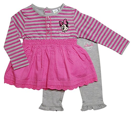 Minnie Mouse Kollektion 2017 Tunika und Leggings 68 74 80 86 92 Mädchen Langarmshirt Leggins Neu Top Maus Set (74-80; Prime, Rosa)