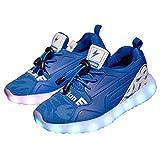 Licy Life-UK Unisex Jung Jungs Mädchen Studenten LED Schuhe Leuchtschuhe Verbesserung 4 Farbe Blinkende Leuchtende Light up Sneakers(Größe 28-37) (29EU, Blau)