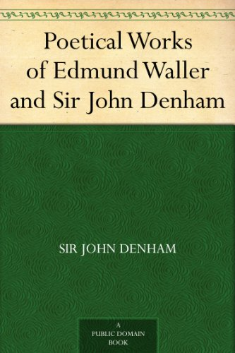 analysis of edmund wallers poem on a Rochester has a specific target in mind, a 1661 poem by edmund waller entitled a poem on st james's park as lately improved by his majesty, which offers an idealized version of the park, a formerly marshy area near the royal palace that became a park in the sixteenth century.