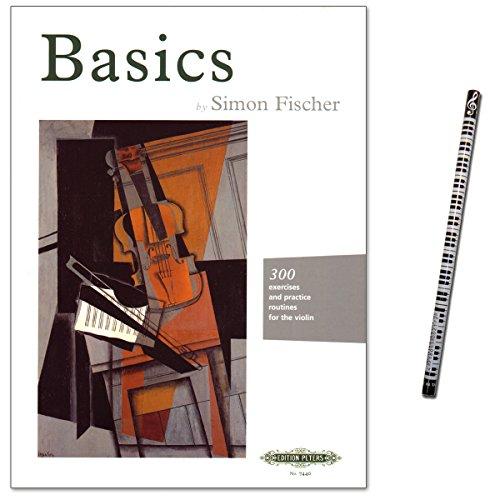 Basics von Simon Fischer - 300 Übungen: rechter Arm und rechte Hand, Klangerzeugung, die wichtigsten Strichtechniken, linke Hand, Lagenwechsel, Intonation und Vibrato - Noten mit Musik-Bleistift
