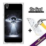 BeCool - Coque Etui Housse en GEL Sony Xperia L1, [ +1 Protecteur Verre Trempé ] Silicone TPU, protège et s'adapte a la perfection a ton Smartphone. OVNI.