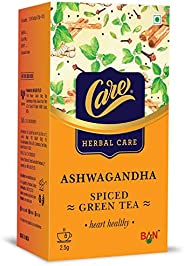 Care Ashwagandha Spiced Green Tea | Enhance Metabolism & Build Immunity | Made with Pure Ayurvedic Herbs L