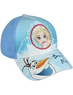 Frozen Disney Gorra para niña Premium color Azul y Blanco con lentejuelas reversibles + lápiz de regalo - Fozen...