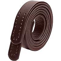 VANKER 2piezas/set multi-holes correa de piel cinturón de repuesto mango para bolso Crossbody, Light Coffee