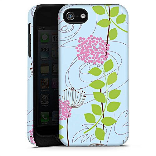 Apple iPhone X Silikon Hülle Case Schutzhülle Blumen Muster Ranken Tough Case matt