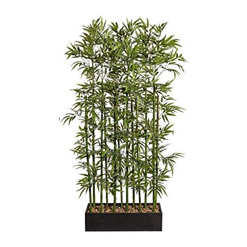 Homefinity Pflanzen Bambus Kunstbambus Raumteiler Kunststoff Grün 185cm