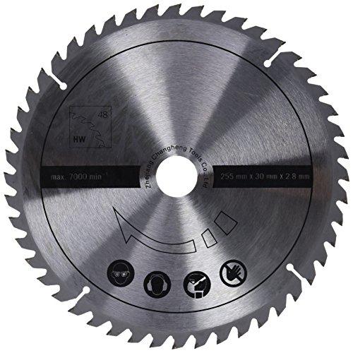 Scheppach 7901200706 Zubehör Säge/HW-Universalsägeblatt, passend für die Multifunktionssäge HM100MP, eignet Sich für Vollholz und Laminat, Durchmesser 255 x 30 x 2,8 mm / 48 Z -