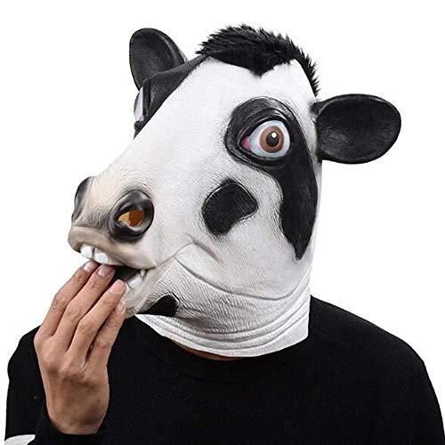 Kostüm Zombie Kuh - FLY FLQ Halloween Latex Masken,Tier Maske Deluxe Neuheit Halloween Kostüm Party Latex Tier Kopf Maske Kuh