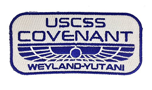 Super6props Alien USCSS Covenant Weyland Yutani Building Bessere Welten Gestickte Patch Iron on Crew Uniform Patches für Cosplay, Kostüm und Fancy Dress Wie im Film Alien Covenant Gesehen.
